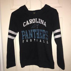 NFL Juniors Carolina Panthers Hoodie Sz S
